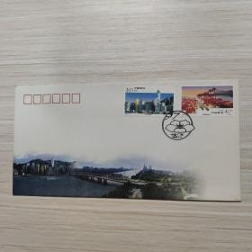 信封:广州 香港共创美好的明天 纪念封-纪念封/首日封