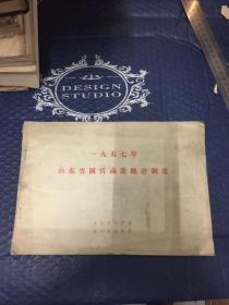 新中国经济类史料【稀缺】1957年山东省国营商业统计制度