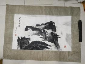 黄山画家  手绘(画心81 x 54)