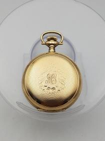 带出生纸的埃尔金猎壳包金古董怀表