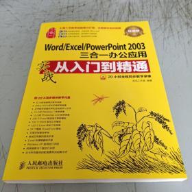WORD/EXCEI/POWERPOINT2003三合一办公应用实战从入门到精通(带一张光盘)