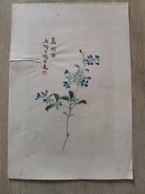 五十年代末荣宝斋木板水印,王师子画一张