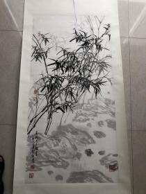 巳故著名画家郑伊农老师四尺墨竹