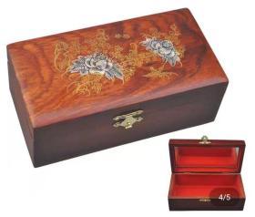缅甸花梨木木雕盒子长14厘米宽8厘米高6厘米