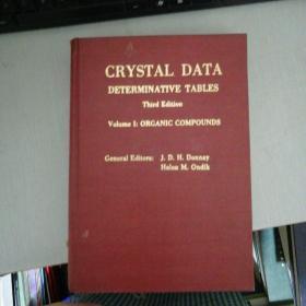 Crystal Data Determinative Tables(晶体结晶数据手册 第三版第一卷 有机化合物)英文版16开精装