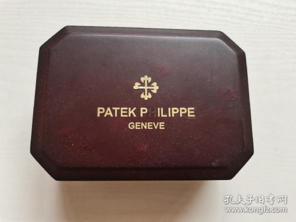 PATEKPHILIPPE百达翡丽手表盒,腕表盒,木盒,名牌有标及字母缺失,内部尺寸长10cm,宽8cm,高4cm。