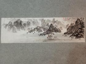 四川名家 杨老 国画山水画心软片原稿手绘真迹