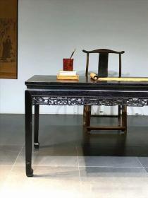 明式做工血檀木茶桌,180/81/80四面缕空雕刻,做工大气精神,喜欢的速度