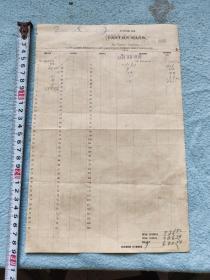 1916年金山正埠广东银行票据一张