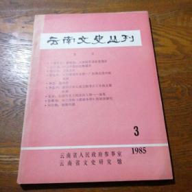 云南文史丛刊 第三辑 1985