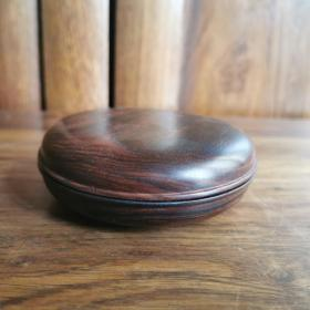 清代老红木印泥盒