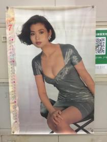 1994年挂历——女明星一张(辛颖)长85.5厘米,宽57厘米,号7