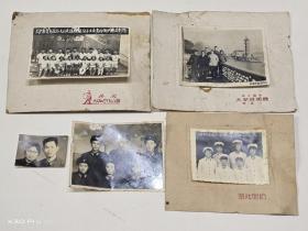 无锡地方老照片(洛社派出所全体同志合影1961年、 无锡县青年社会主义建设积极份子大会青祁乡代表合影1958年)共4张合售