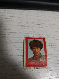 郵票: 8分 毛主席的好戰士 劉英俊 紀123·6-1(1967)   品自定  筆記本郵夾內