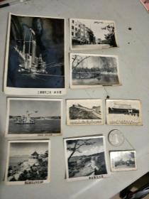 六十年代的上海,青岛黑白风景照片一组9张齐售,(最大尺寸14×9.5,最小4×3 ) ,