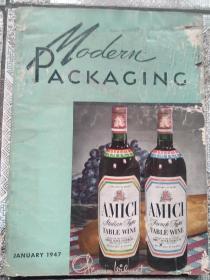 民国  现代包装1947年第1期  MODERN PACKAGING 多广告