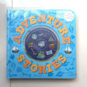 ADVENTURE STORIES With a read-along audio CD   英文儿童读物  卡板绘本书  带音频CD  大开本