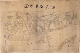 0516古地图1884 福州南台之图。 纸本大小145.32*97厘米。 宣纸艺术微喷复制