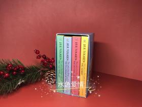 古董书指环王霍比特人巴兰坦出版社1986蓝色授权版蓝盒平装合集The Lord of The Rings The Hobbit 1986 Ballantine paperback edition