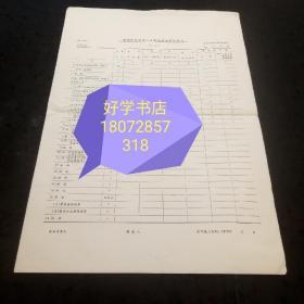 金融票证:浙江省计划委员会制定的一九七八年度集体所有制单位主要物资消费与库存统计报表