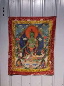 针织唐卡佛像,560元一副,神态逼真,保存完好,尺寸品相如图。