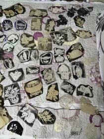 早期陕西凤翔岐山一带窗花纸样熏样一堆数量近百枚【很精致】