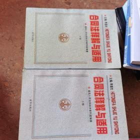 合同法释解与适用  上下两册