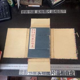 民国七年线装本:达摩大师著《少林拳术精义》(服气图说、易筋经义、全书分上下册共10部分、海量插图、全一厚册)盒装