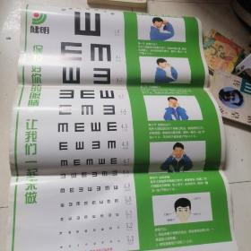 标准对数视力表与眼保健操示意图