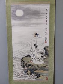 日本回流字画,高士望月图