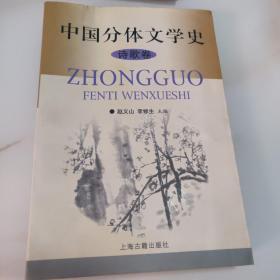 中国分体文学史(诗歌卷)
