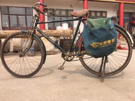 六七十年代邮政车子,自行车带帆布挂兜,老帆布,车况良好正常使用,会管茶馆博物馆收藏展览用