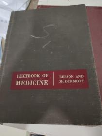 TEXTBOOK OF MEDICINE BEESON AND Mc DERMOTT