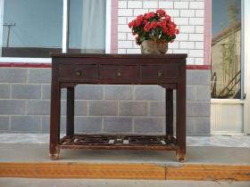 老榆木书桌,一流品相保浆,完美,实用,客厅、书房摆放佳品:110/47/86
