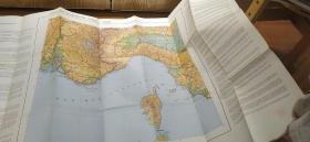 文革史料《世界河流旅游路线图》彩色地图单面1张全 1974年世界地图 旅游地图  法国 意大利  1974年  尺寸:118 ×  72cm 形式: 印刷 品相描述:九五品 如图