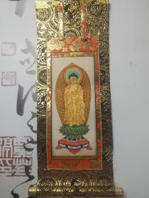 日本回流佛教挂画阿弥陀如来像