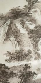 当代名画家(焦墨焦彩画创试人)袁江作品《郊狩猎》【保真】