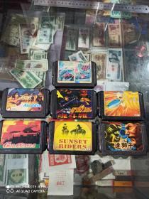 小霸王游戏卡 游戏卡带(7盒合售,魂斗罗、魔王连狮子、超级坦克等)