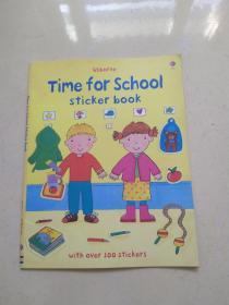 Usborne: Time for School Sticker Book