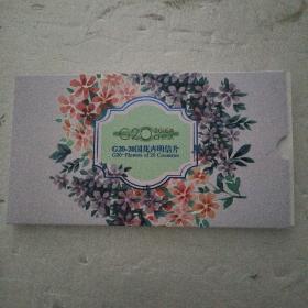 G20-20国花卉明信片(邮资8角,20张)