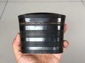 工艺一流,个头超大! 清代《角质  茶叶罐》开合紧密,保存完好! 非常适合装茶叶
