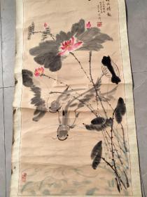 石怀川 国画一副 甘肃著名画家