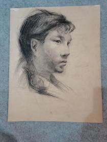 七八十年代老素描人物 原稿真迹