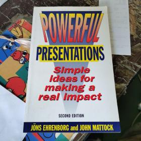 Powerful Presentations : simple ideas for making a real impact  强大的演讲:简单的想法,产生真正的影响