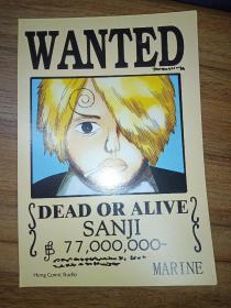 WANTED——DEAD OR ALIVE (SANJI)【英文漫画卡片】