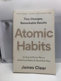 原子习惯:建立好习惯,打破坏习惯 英文原版 Atomic Habits James Clear 自我成长 自我提升 心理励志