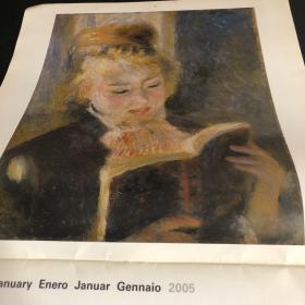 2005年法文版月历挂历:雷诺阿油画
