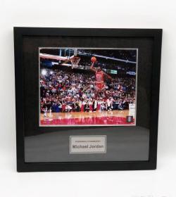 【保真】篮球飞人乔丹亲笔签名88年扣篮大赛10寸大照片 (附官方证书)UPPER DECK正版 ,NBA防伪标签 jordan