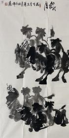 【终身保真字画】林校伟137X68cm!2 1949年生于广州省湛江市,毕业于广州美术学院。现任广东省湛江市赤坎文化宫副主任、广东省美术家第五、六、七次代表大会代表、政协湛江市第九、十届政协委员。中国画作品历年入选广东省美展。现被中国美协深圳创作中心聘为国画创作室主任、一级美术师、广东美协会员、湛江美协常务副主席、湛江画院副院长。