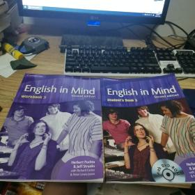 English in Mind Level 3 Student's Book with DVD-ROM(两本合售,一共两张光盘。内页干净)